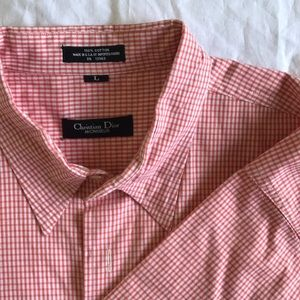 Authentic Christian Dior large  button down shirt